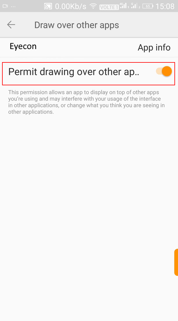 Scribble Drawing App : Caller id isn t working gionee eyecon support