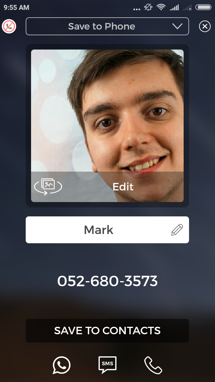add phone contact