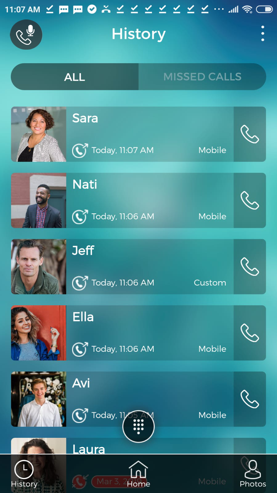 access recorded calls